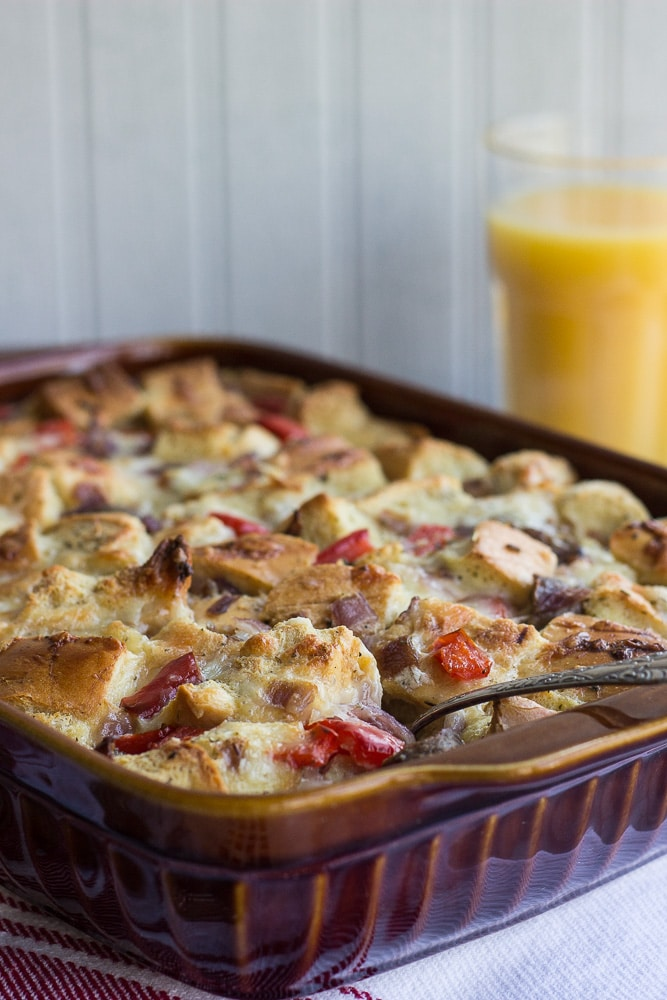 Sausage, Red Pepper and Onion Egg Bake