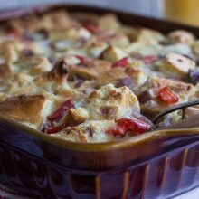 Sausage, Red Pepper & Onion Egg Bake
