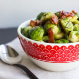 Roasted Brussels Sprouts with Horseradish-Honey Mustard Glaze