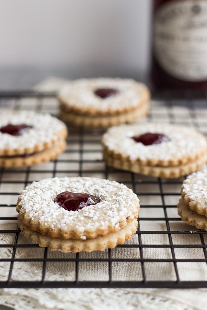 Pecan Linzer Heart Cookies | The Beach House Kitchen