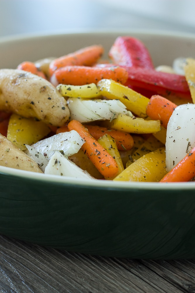 Vegetables for Hearty Sausage Potato Bake