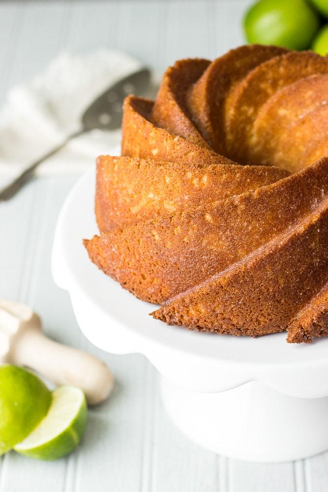 Key Lime and Coconut Bundt Cake