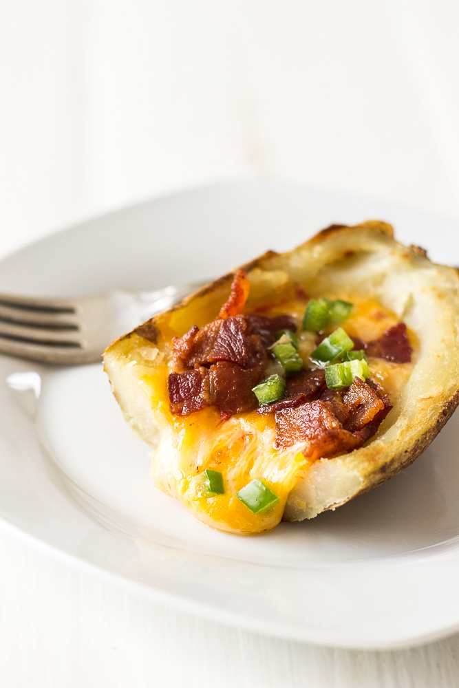 Pimento Cheese Stuffed Potato Skins with Bacon and Jalapenos