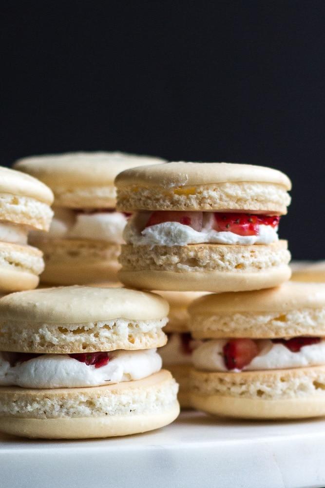 Strawberry Macarons Recipe Dishmaps