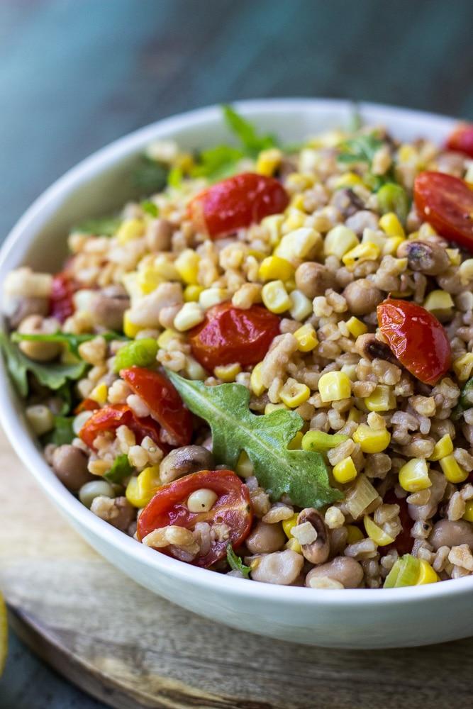 Farro, Tomato and Corn Salad