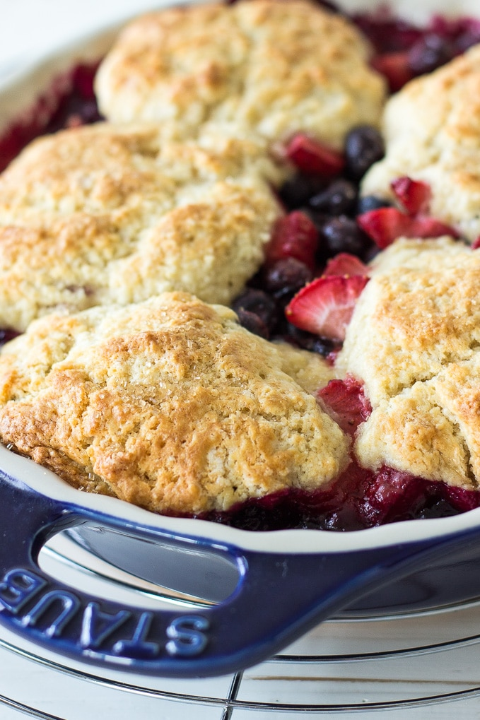 Berry Cobbler with Sweet Biscuit Topping | The Beach House ...