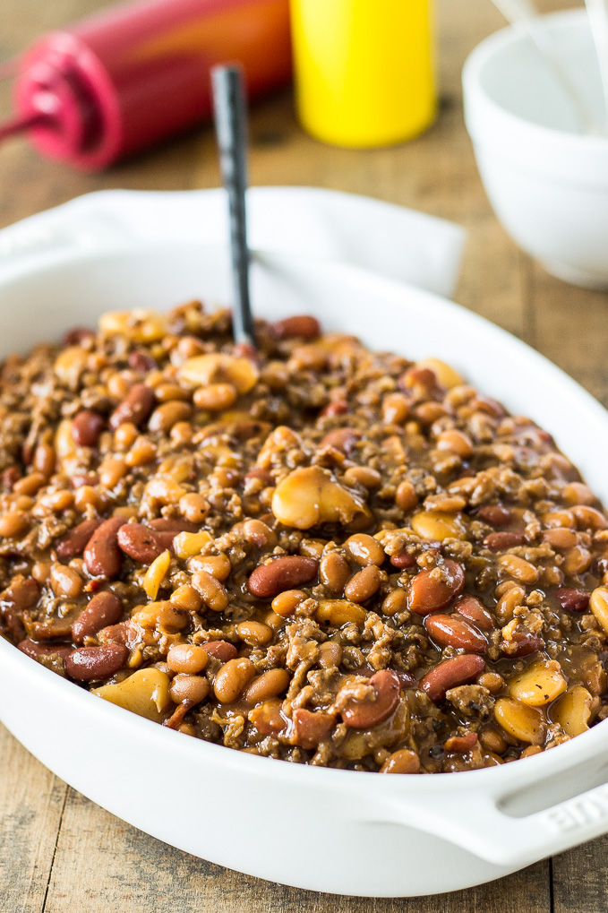 Baked Three Bean Casserole | The Beach House Kitchen