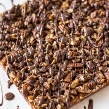 Chocolate Drizzled Maple Pecan Bars