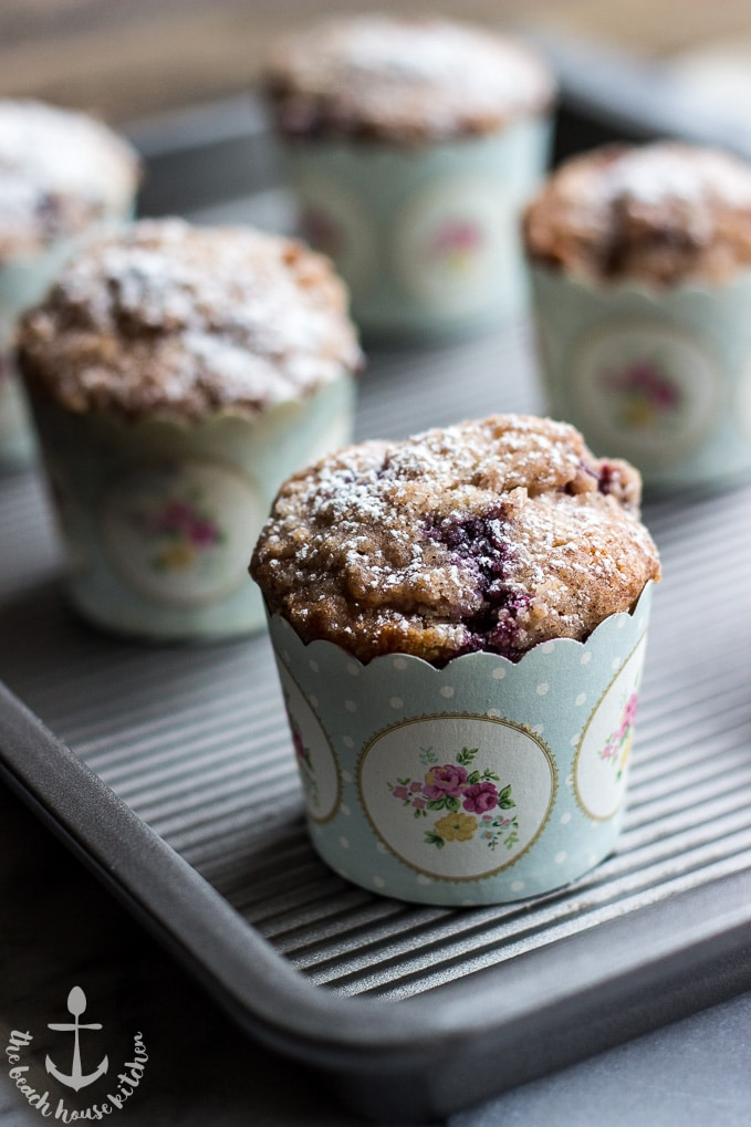 Bakery Style Blueberry Muffins | The Beach House Kitchen