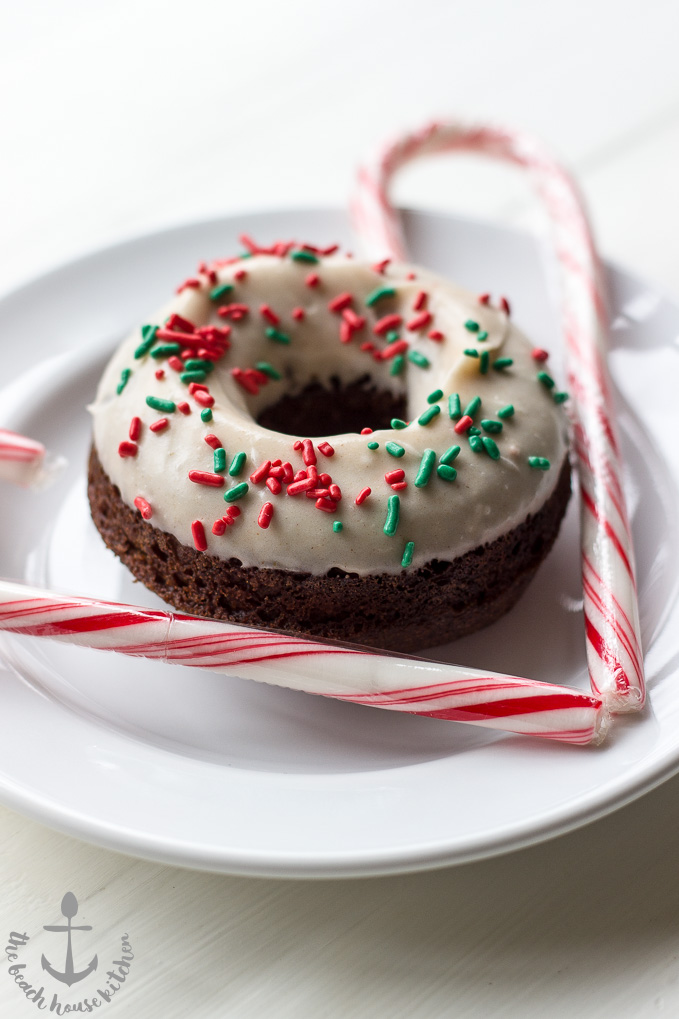 Gingerbread Donuts with Gingerbread Glaze | The Beach House Kitchen