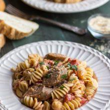 Rotini with Italian Sausage and Tomato Cream Sauce