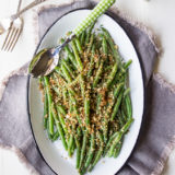 Green Beans with Horseradish Panko Crumbs