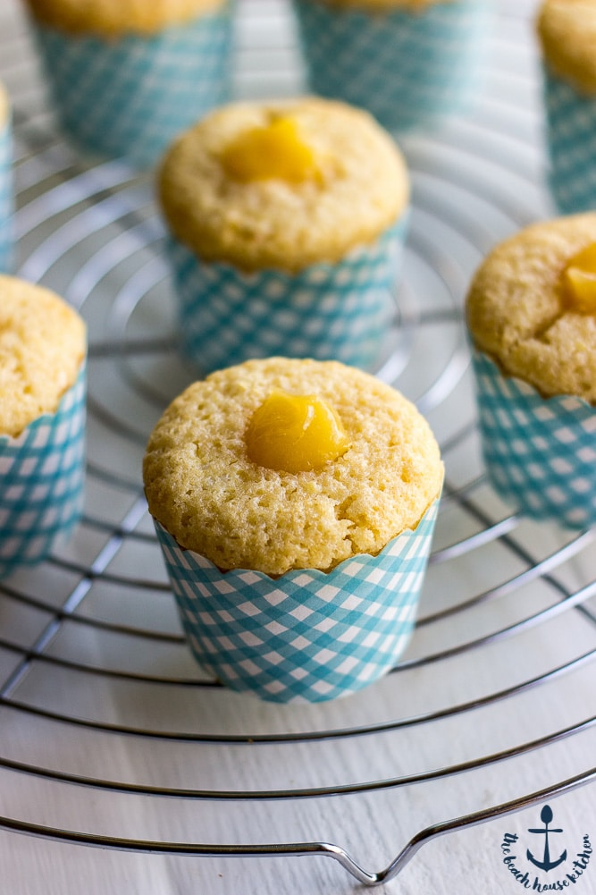 Lemon Cupcakes Filled with Lemon Curd Topped with Vanilla Buttercream-