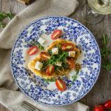 Chicken Milanese with Arugula, Tomatoes and Fresh Mozzarella