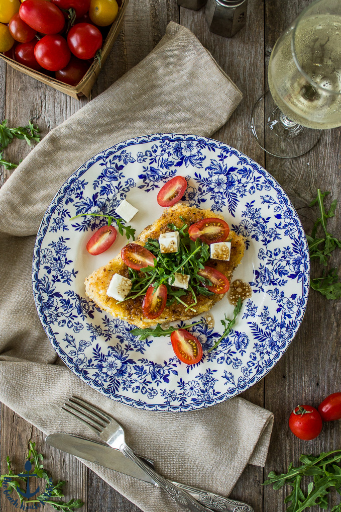 Chicken Milanese with Arugula, Tomatoes and Fresh Mozzarella | The ...