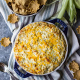 Cheesy Corn Dip with Green Chiles