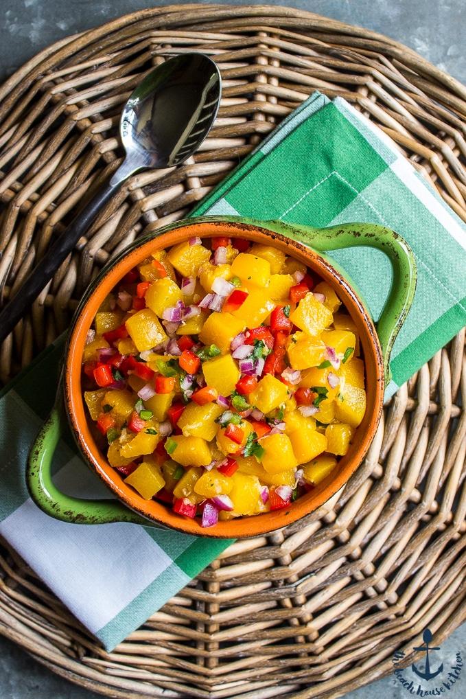 Summer Peach Salsa | The Beach House Kitchen