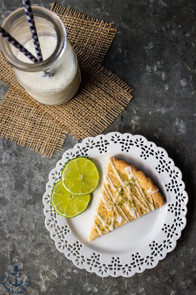 Gluten Free Lime Coconut Shortbread