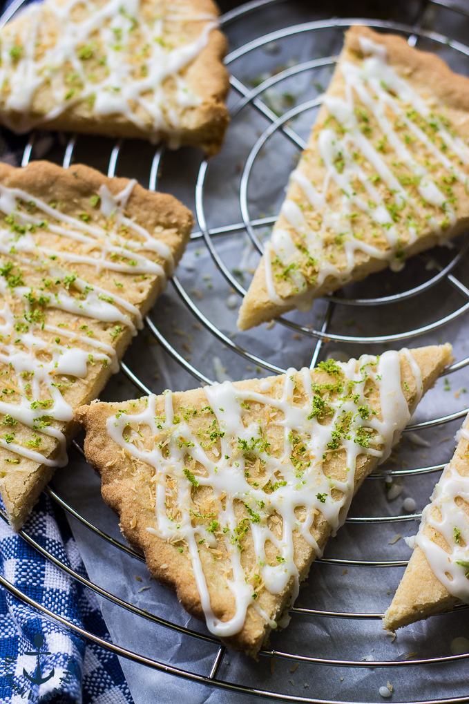 Gluten Free Lime Coconut Shortbread