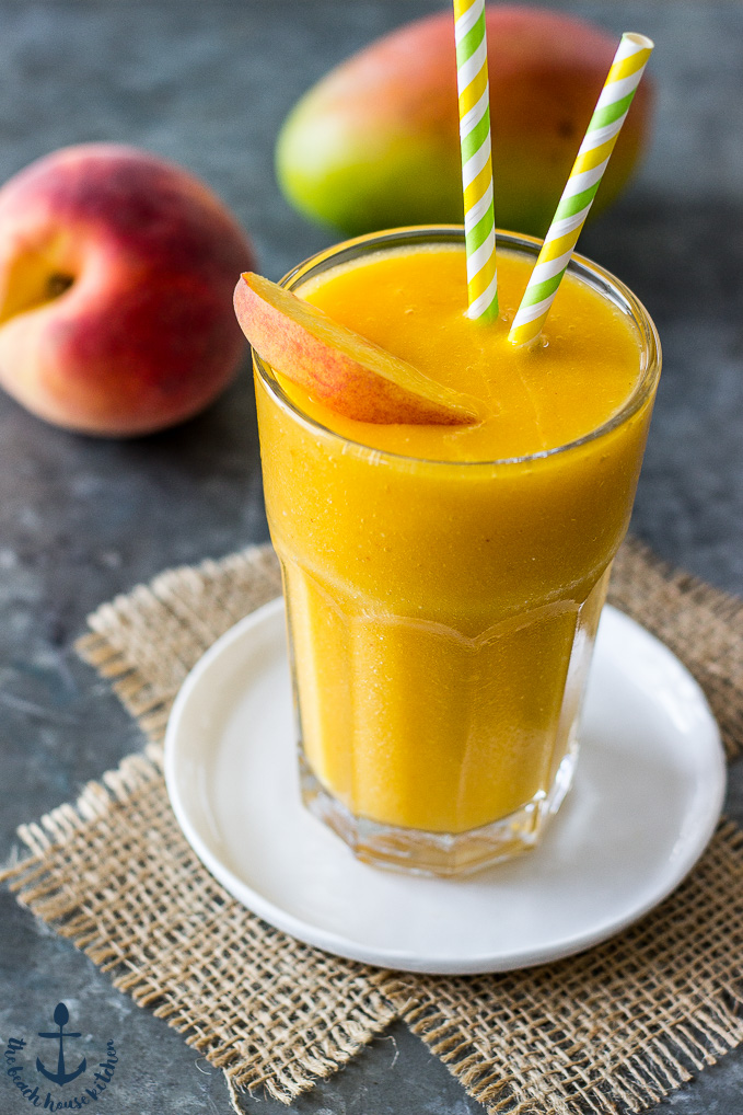 Mango Peach Smoothie | The Beach House Kitchen
