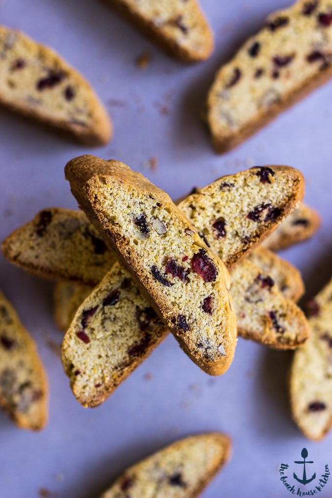 Cranberry Orange Cornmeal Biscotti with Pecans | The Beach House ...
