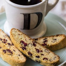 Cranberry Orange Cornmeal Biscotti with Pecans