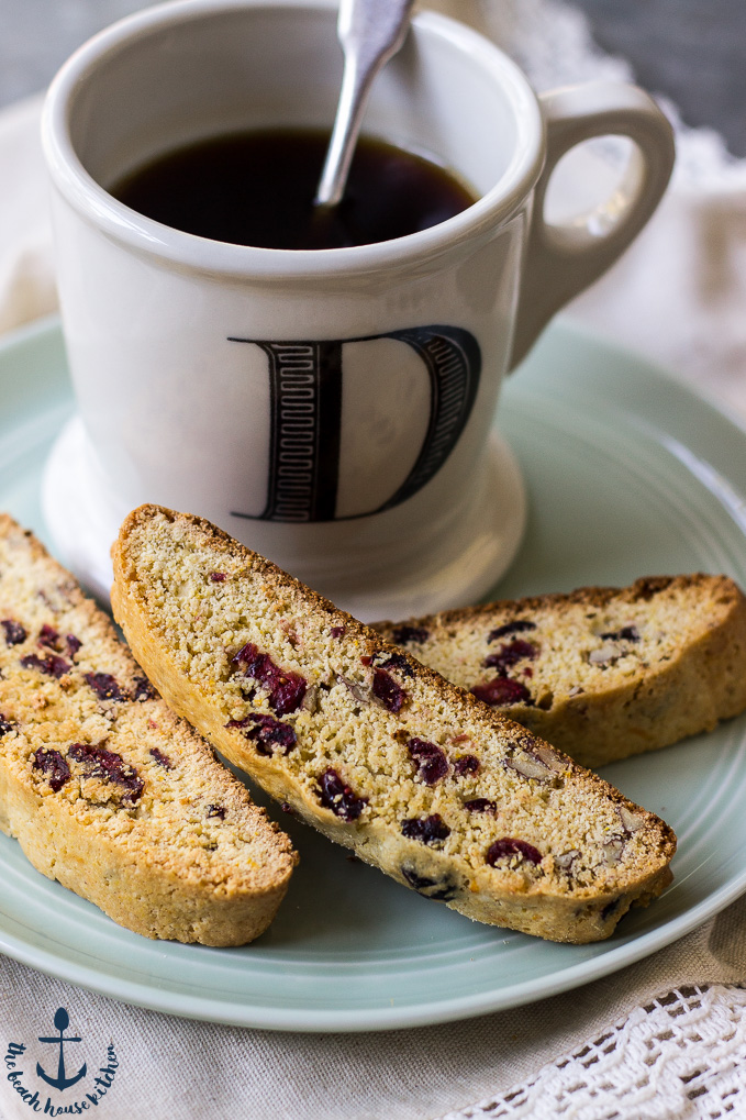 This Cranberry Orange Cornmeal Biscotti with Pecans is the perfect ...