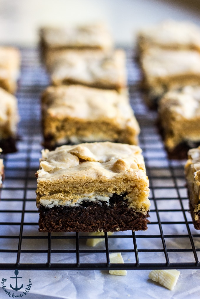 Triple Decker Delight Brownie Bars