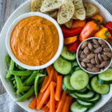Crudité Platter with Romesco Sauce