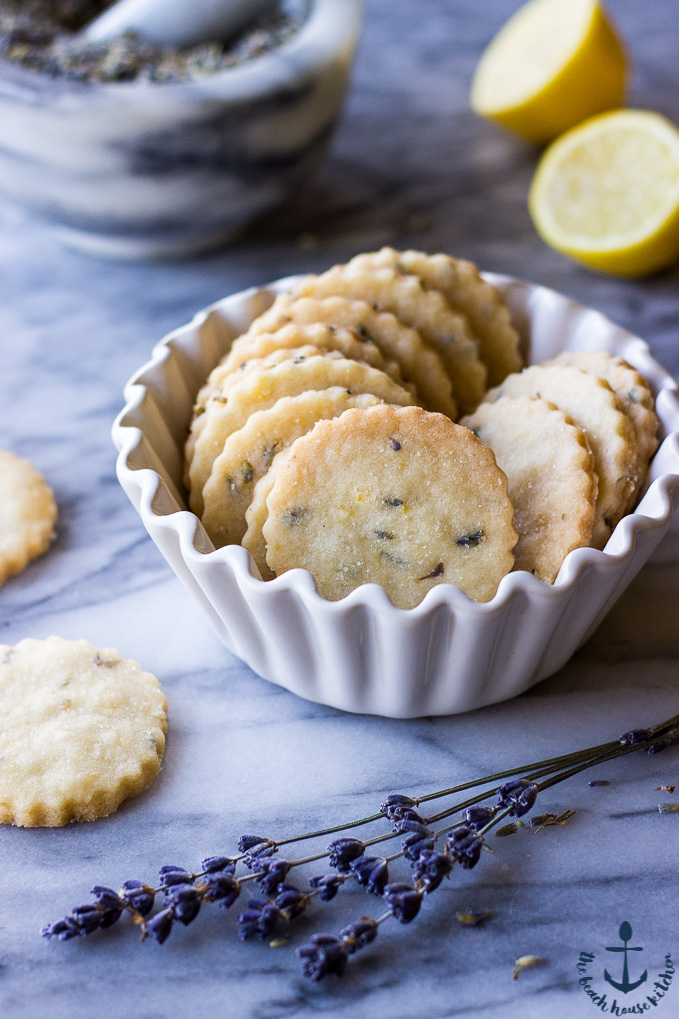 These Lemon Lavender Shortbread Cookies are rich and buttery with a ...