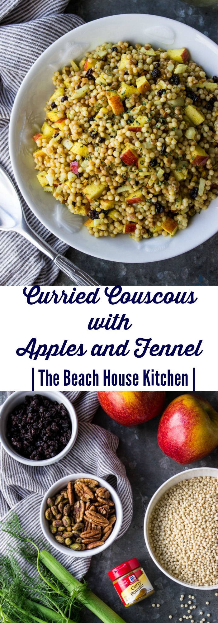 Curried Couscous with Apples and Fennel