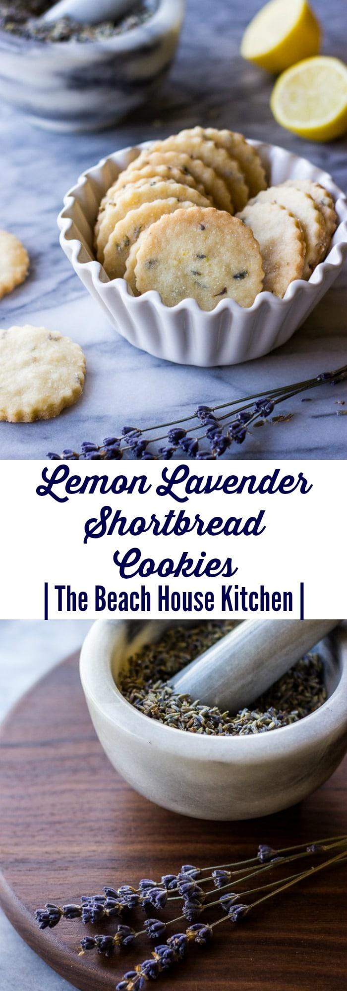 Lemon Lavender Shortbread Cookies