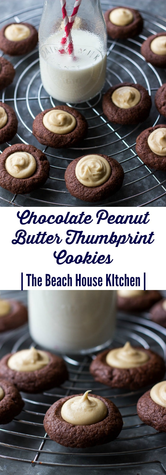 Chocolate Peanut ButterThumbprint Cookies