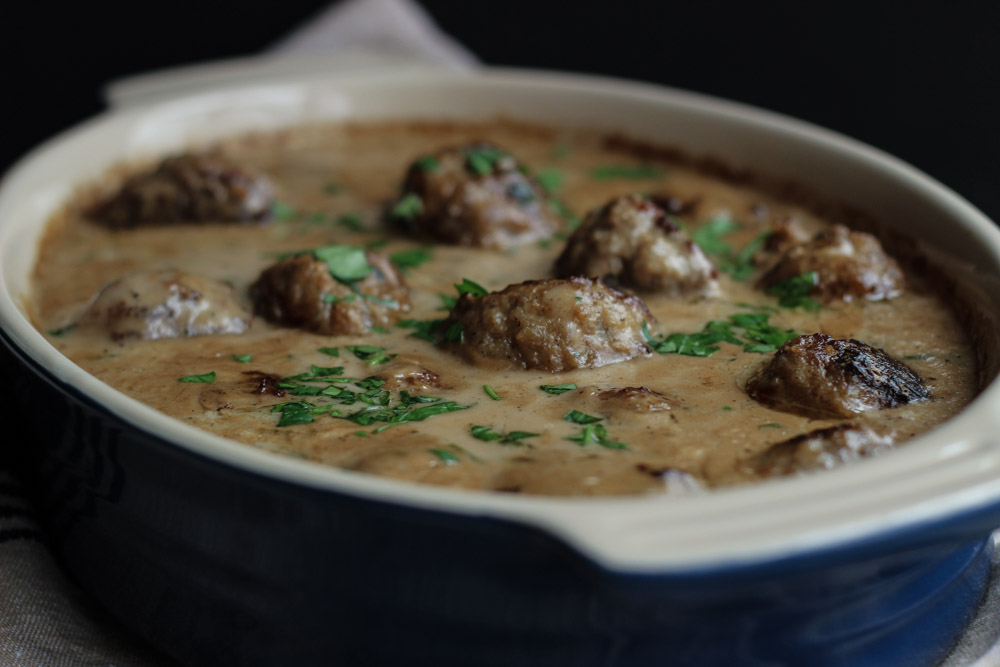 Swedish Meatballs - delicious meatballs in a rich, creamy gravy.