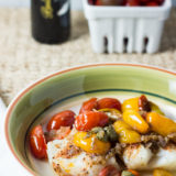 Striped Bass Fillets with Tomatoes & Capers