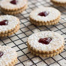 Pecan Linzer Heart Cookies