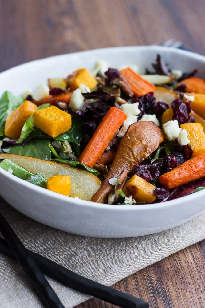 Roasted Vegetable Salad With Balsamic Vinaigrette Dressing The Beach House Kitchen