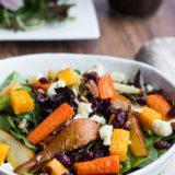 Roasted Vegetable Salad with Balsamic Vinaigrette Dressing