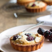 Almond Blackberry Financiers