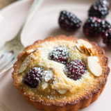 Almond Blackberry Financier