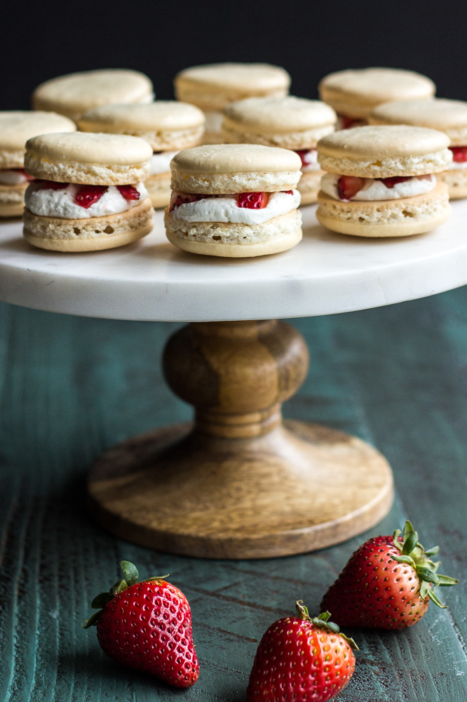 Strawberry Shortcake Macarons The Beach House Kitchen