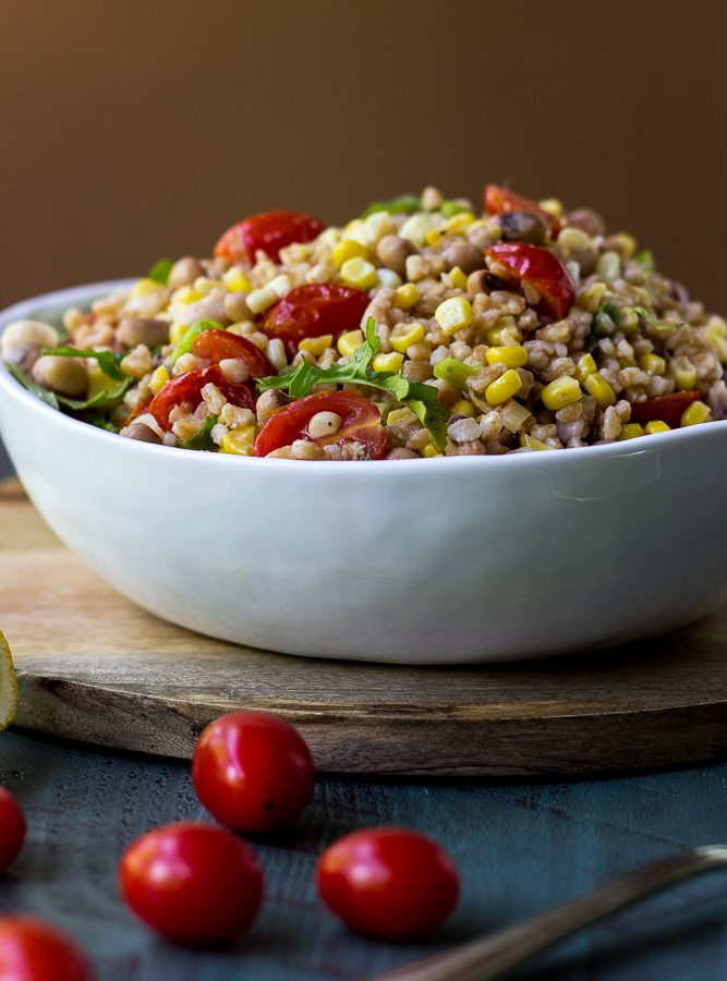 Farro, Corn and Tomato Salad