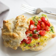 Easy Egg Bake Breakfast Sandwich with Pico de Gallo