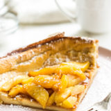 Dutch Baby with Caramelized Peaches