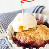 Berry Cobbler with Sweet Biscuit Topping