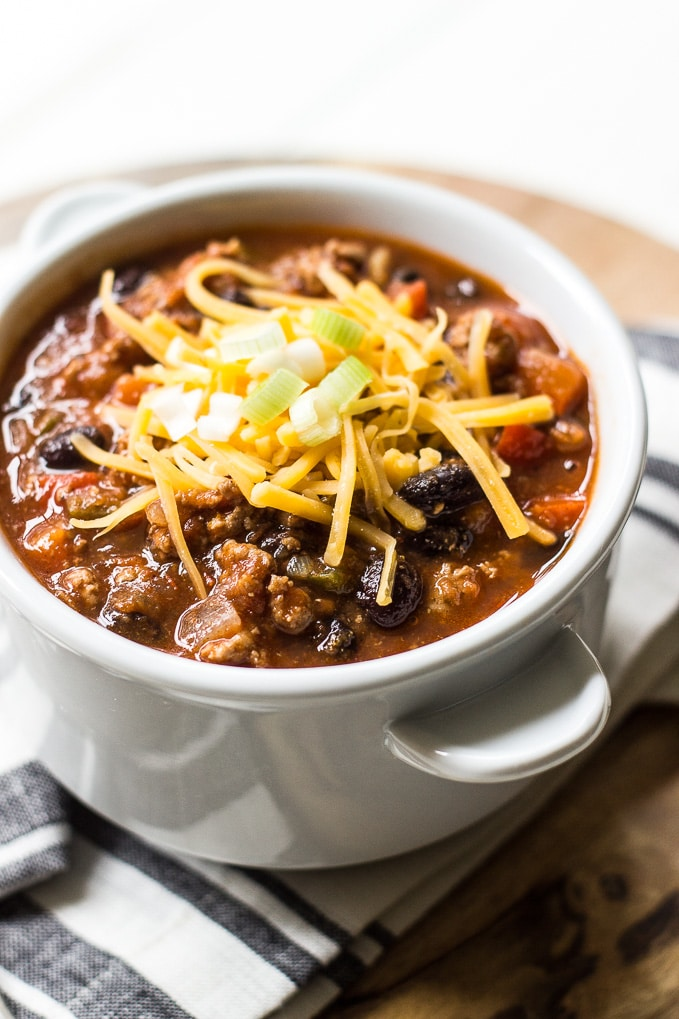 Spicy Black Bean Turkey Chili