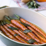 Orange Brown Butter Roasted Carrots with Sage