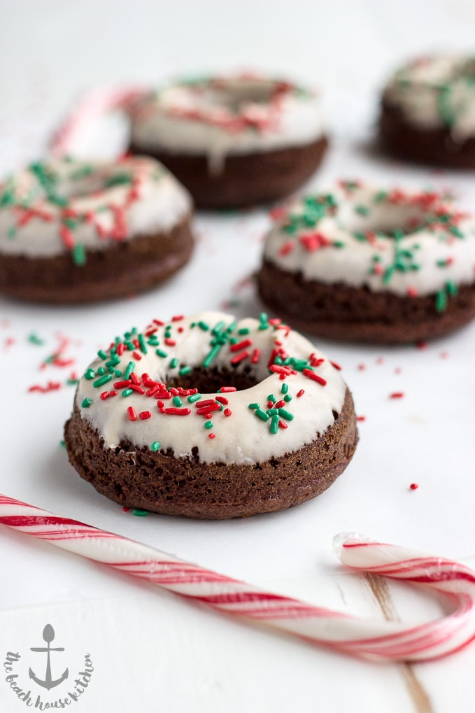 Gingerbread Donuts with Gingerbread Glaze