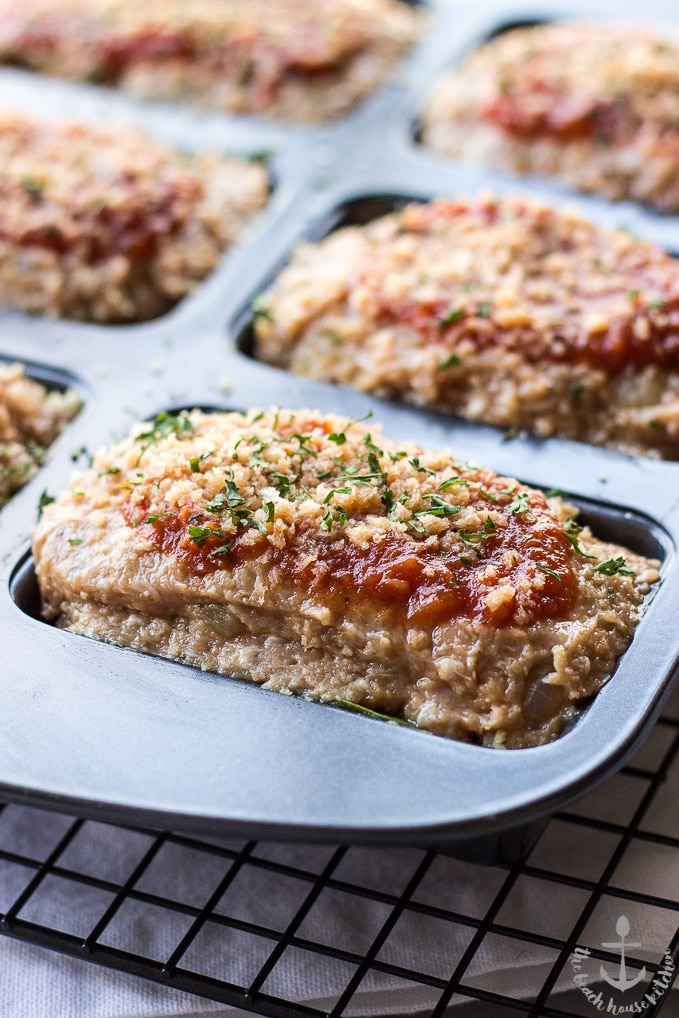 Mini Stuffed Turkey Meatloaves