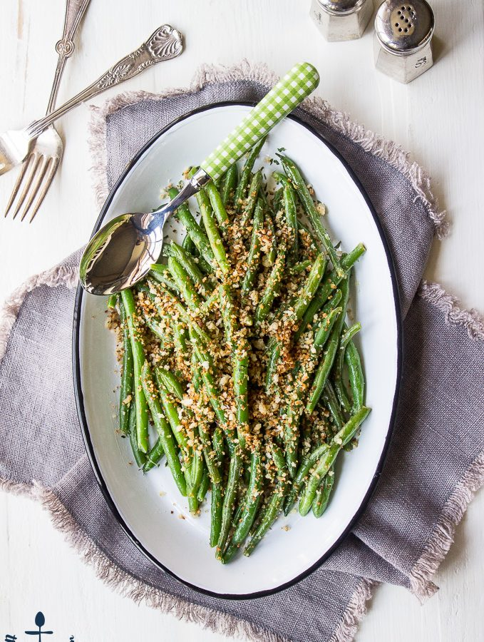 Green Beans with Horseradish Panko